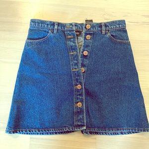 Monki Jean mini skirt size S